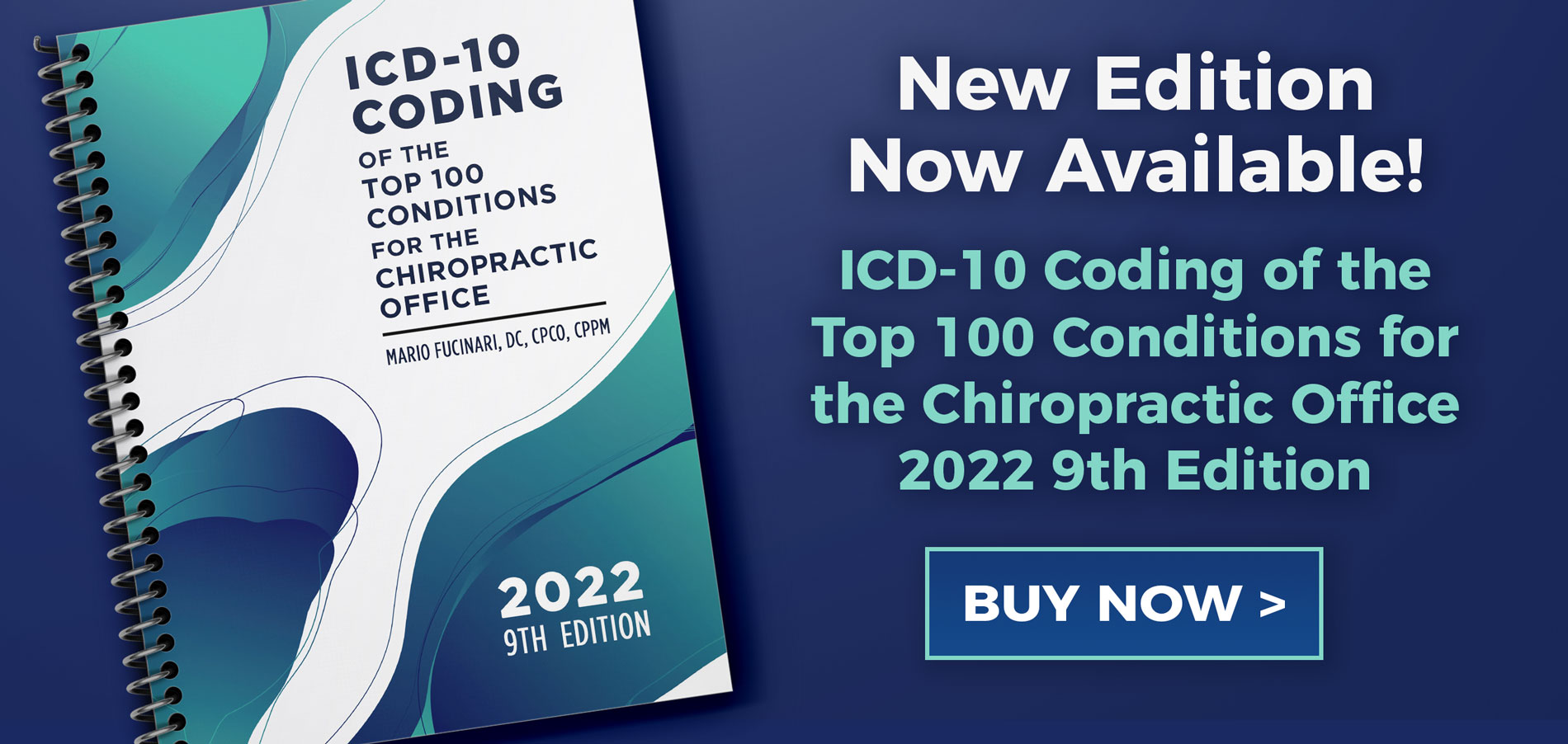 New Edition Now Available! ICD-10 Coding of thee Top 100 Conditions for the Chiropractic Office 2022 9th Edition